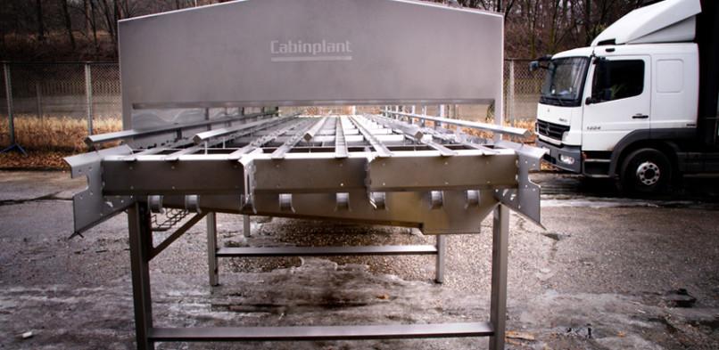 Stół przemysłowy firmy Cabinplant po procesie trawienia